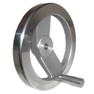 Hand Wheels – Two-Spoke Square Design (Aluminum) with Tapped Hole for Handle