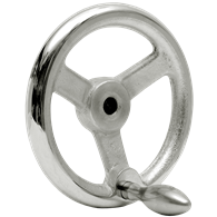 Hand Wheels – Angled-Spoke Rounded Design (Cast Iron, Chrome Plated)