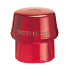 Simplex Hammers – Type E Inserts: Red Plastic (Hard)