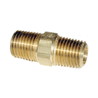 Air Fittings – Hex Nipple (1/4-NPT Male x 2)