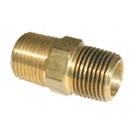 Air Fittings – Hex Nipple (3/8-NPT Male x 2)