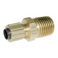 Air Fittings – Tubing Connector (1/4-NPT Male x 1/4-OD Tubing)