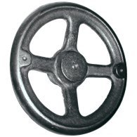 Hand Wheels – Angled-Spoke Rounded Design (Cast Iron or Aluminum)