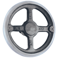 Hand Wheels – Straight-Spoke Rounded Design (Cast Iron or Aluminum)